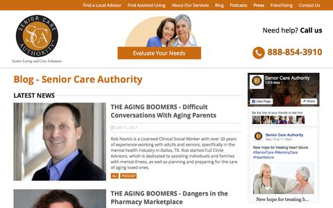 Screenshot of Press Page seniorcareauthority.com - Assisted Living Facilities Information & Tips | Senior Care Authority - captured June 11, 2017