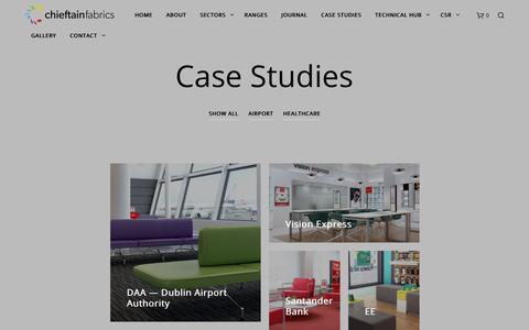 Screenshot of Case Studies Page chieftainfabrics.com - Case Studies - Chieftain Fabrics - captured Nov. 4, 2018