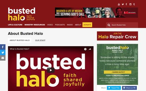Screenshot of About Page bustedhalo.com - About Busted Halo | Busted Halo - captured Aug. 4, 2018