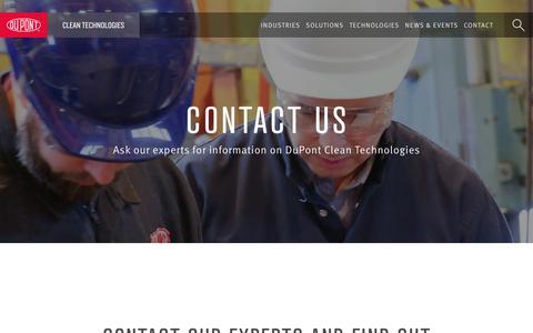 Screenshot of Contact Page dupont.com - Contact - DuPont Industrial Biosciences - captured Oct. 26, 2018