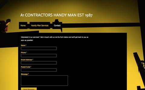 Screenshot of Contact Page a1contractors.ca - - Contact - captured Nov. 19, 2016