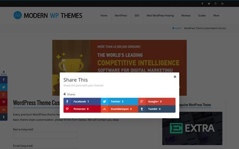 Screenshot of Services Page modernwpthemes.com - WordPress Theme Customization Service - Modern WP Themes - captured Feb. 21, 2016