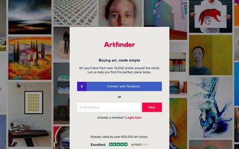 Screenshot of Home Page artfinder.com - Artfinder | Buy and Sell Original Art Online | Artfinder - captured March 28, 2018
