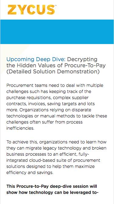 Decrypting the Hidden Values of Procure-To-Pay (Detailed Solution Demonstration)