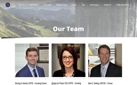 Screenshot of About Page Team Page centurionwealth.com - Centurion Wealth - Our Team | Centurion Wealth Management - captured July 6, 2018
