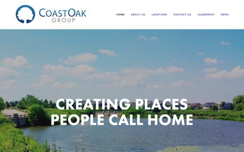 Screenshot of About Page Contact Page Locations Page coastoakgroup.com - CoastOak Group - captured May 19, 2017