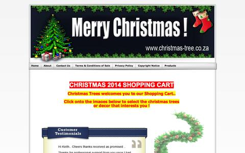 Screenshot of Home Page christmas-tree.co.za - Christmas Trees, Christmas Decor and Christmas Lights - captured Sept. 23, 2014