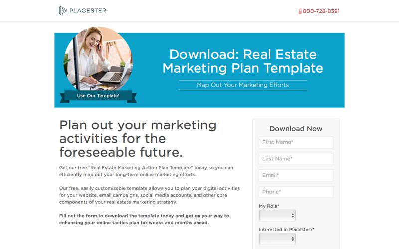 Placester Download: Real Estate Marketing Action Plan Template