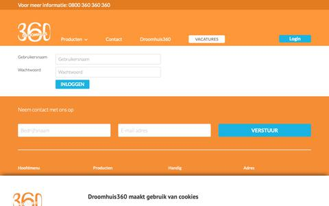 Screenshot of Login Page droomhuis360.nl - Droomhuis360 - captured Nov. 6, 2018