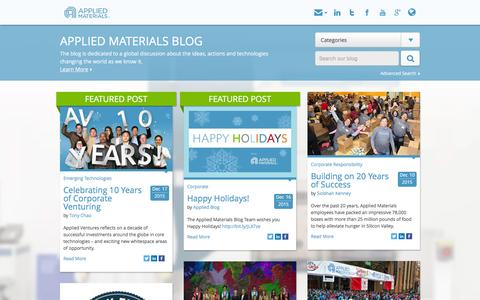 The Applied Materials Blog