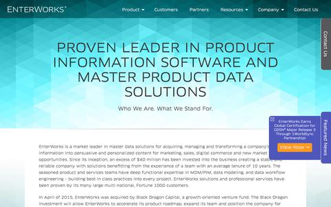 Proven Leader In Product Information Software and Master Product Data Solutions | EnterWorks
