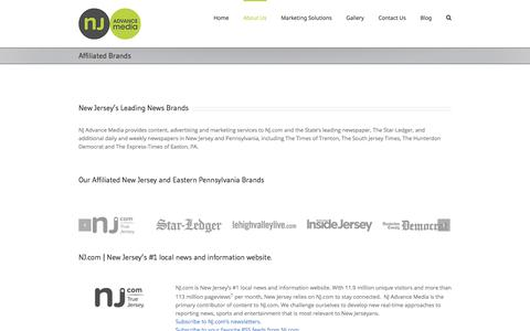Screenshot of About Page njadvancemedia.com - New Jersey Brand Affiliates   NJ Advance Media - captured Nov. 6, 2017