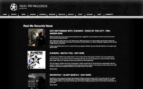 Screenshot of Press Page reelmerecords.com - Reel Me Records - News - captured Oct. 26, 2014