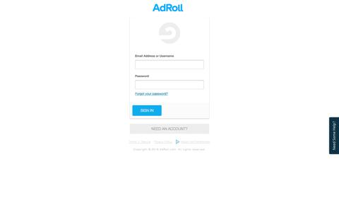 Please Sign In | AdRoll