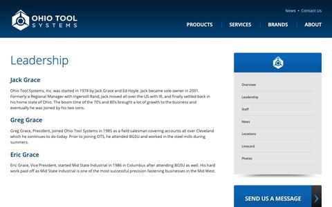 Screenshot of Team Page ohiotool.com - Leadership   Ohio Tool Systems - captured Nov. 14, 2018