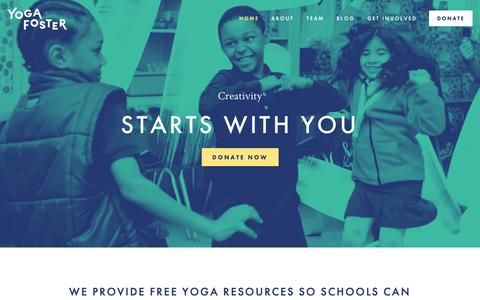 Screenshot of Home Page yogafoster.org - Yoga Foster - captured Sept. 30, 2014