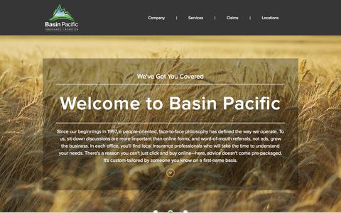 Screenshot of Home Page basinpacific.com - Home - Basin Pacific - captured Jan. 30, 2015