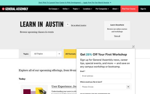 Web Design, Business, Technology Classes and | General Assembly