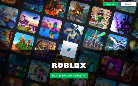 Screenshot of Home Page roblox.com - Roblox - captured Aug. 29, 2019