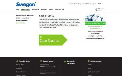 Screenshot of Case Studies Page swegon.com - Swegon - Case Studies - captured Jan. 24, 2017