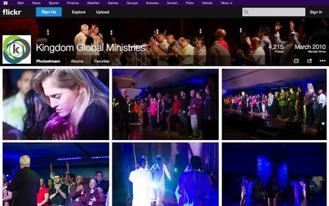 Screenshot of Flickr Page flickr.com - Flickr: Kingdom Global Ministries' Photostream - captured Oct. 23, 2014