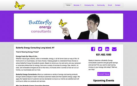 Screenshot of Home Page butterflyenergyconsultants.com - Butterfly Energy Consultants - captured Sept. 13, 2015