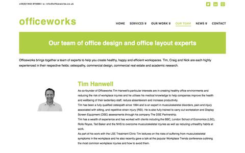 Screenshot of Team Page officeworks.co.uk - our team of office design and layout experts - officeworks - captured Sept. 24, 2018