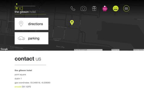 Screenshot of Contact Page thegibsonhotel.ie - Contact Us | The Gibson Hotel - captured Sept. 21, 2018