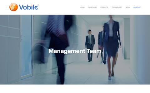 Screenshot of Team Page vobileinc.com - Vobile's Management - captured Feb. 17, 2016