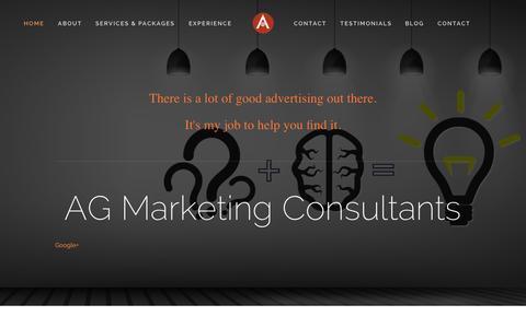 Screenshot of About Page aarongrijalva.com - AG Marketing Consultants - captured Nov. 2, 2014