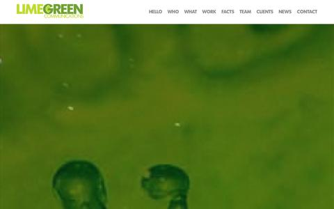 Screenshot of Home Page Team Page limegreencommunications.com - Limegreen Communications | PR with a twist - captured Sept. 30, 2014