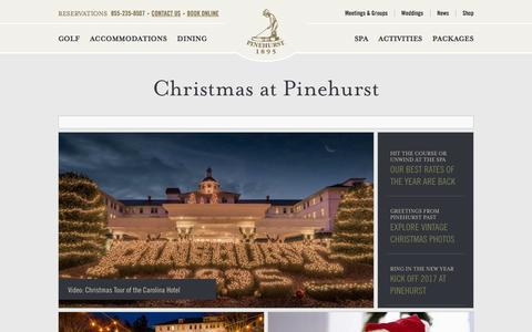 Christmas at Pinehurst - Pinehurst ResortPinehurst Resort