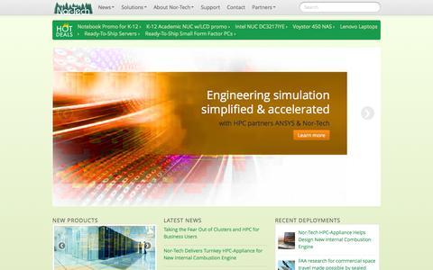 Screenshot of Home Page nor-tech.com - Nor-Tech - Innovative HPC Solutions - captured Sept. 30, 2014