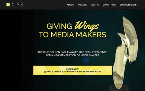 Screenshot of Home Page cine.org - CINE | Giving Wings to Media Makers - captured Dec. 4, 2015