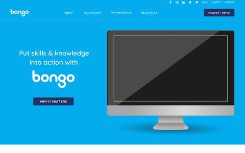 Screenshot of Home Page bongolearn.com - Home - Bongo - captured July 20, 2019