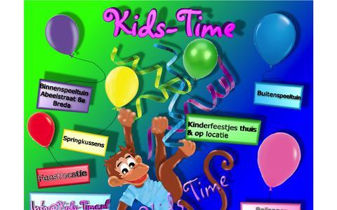 Screenshot of Home Page kidstime-kinderfeestjes.nl - Startpagina - captured Oct. 6, 2014