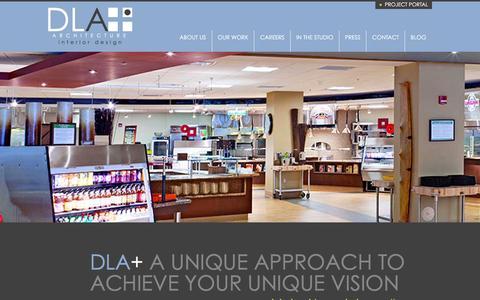 Screenshot of Home Page dlaplus.com - DLA+ Architecture & Interior Design - captured Dec. 19, 2015