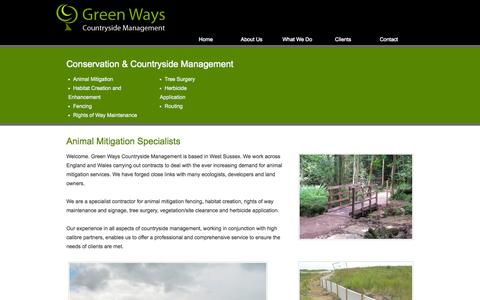 Screenshot of Home Page greenwayscm.co.uk - Conservation & Countryside Management | Wildlife & Habitat Services - captured Oct. 3, 2014