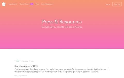Acorns - Press