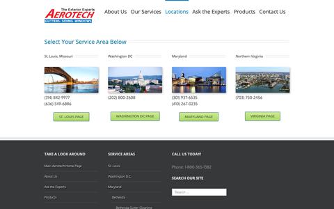 Screenshot of Locations Page thegutterexperts.com - Services | The Exterior Experts - captured Oct. 3, 2018