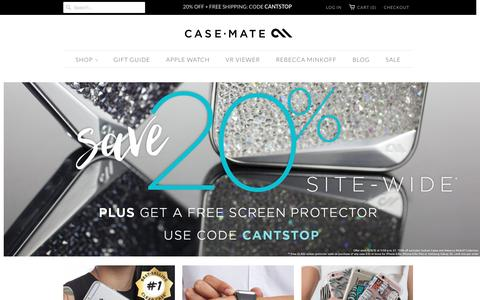 Screenshot of Home Page Site Map Page case-mate.com - Premium Smartphone Cases, Watch Bands & Accessories | Case-Mate - captured Dec. 7, 2015