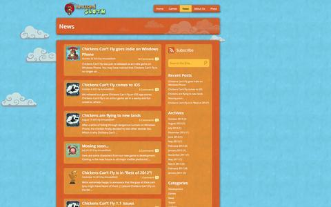 Screenshot of Press Page amusedsloth.com - News | Amused Sloth - captured Sept. 30, 2014