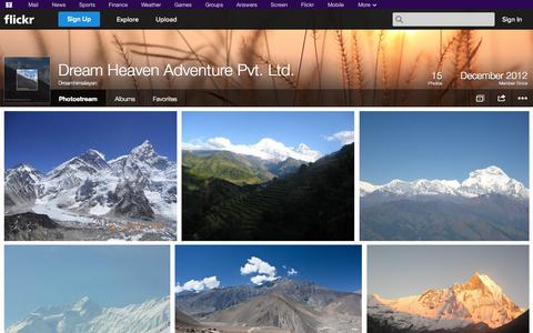 Screenshot of Flickr Page flickr.com - Flickr: Dreamhimalayan's Photostream - captured Oct. 23, 2014