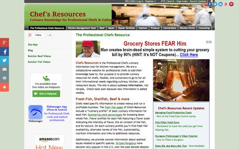Screenshot of Home Page chefs-resources.com - Chef's Resources - The Professional Chefs Resource - captured Jan. 23, 2015
