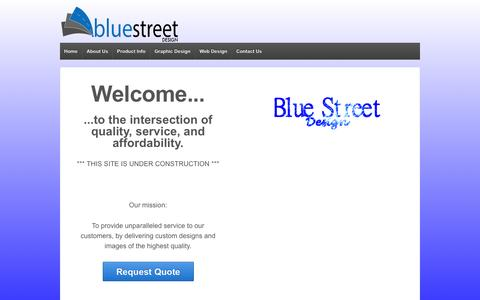 Screenshot of Home Page bluestreetdesign.com - Blue Street Design | Professional Graphic Design - captured Sept. 30, 2014