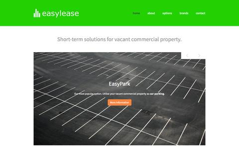 Screenshot of Home Page easyleasenz.com - Easylease New Zealand - captured Oct. 1, 2014