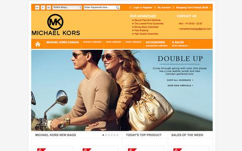 Screenshot of Home Page cdet.ca - Michael Kors Outlet Canada, Michael Kors Handbags Save up to 80% - captured Oct. 11, 2014