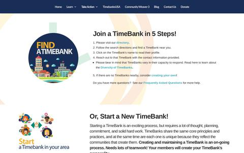 Screenshot of Signup Page timebanks.org - Join a TimeBank | TimeBanks USA - captured July 6, 2017