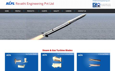 Screenshot of Products Page revathiengineering.com - Revathi Engineering Pvt. Ltd. - captured Oct. 20, 2018