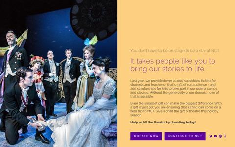 Screenshot of Home Page nashvillechildrenstheatre.org - Nashville Children's Theatre - captured Dec. 21, 2016